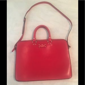 Kate Spade Red Leather Laptop Bag